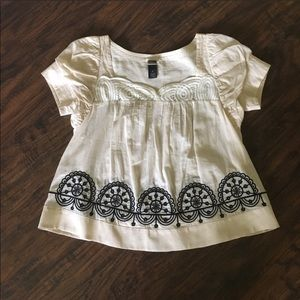 Anthropologie baby doll shirt